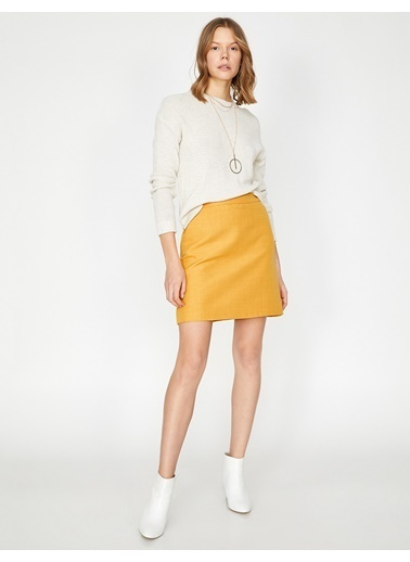 Koton Mini Etek Sarı